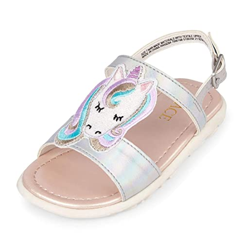 d37799eb1daeb The Children's Place Kids' Unicorn Canary Sandal Flat