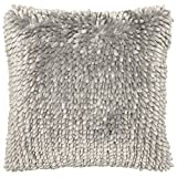Dolce Home Butter Chenille Decorative Pillow, 18'' x 18'', Light Grey