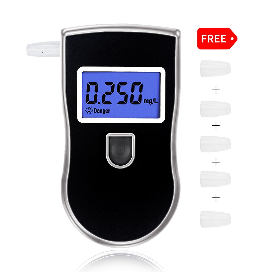 Breathalyzer, Portable Professional Digital Alcohol Tester Detector with Portable Bag for Home Use