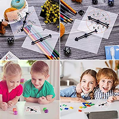 KisSealed 15 PCS Learning Advantag Clear Transparent Spinners with Rotating Arrow Dry Erase Math Game Spinner for Party Games and Teaching: Toys & Games