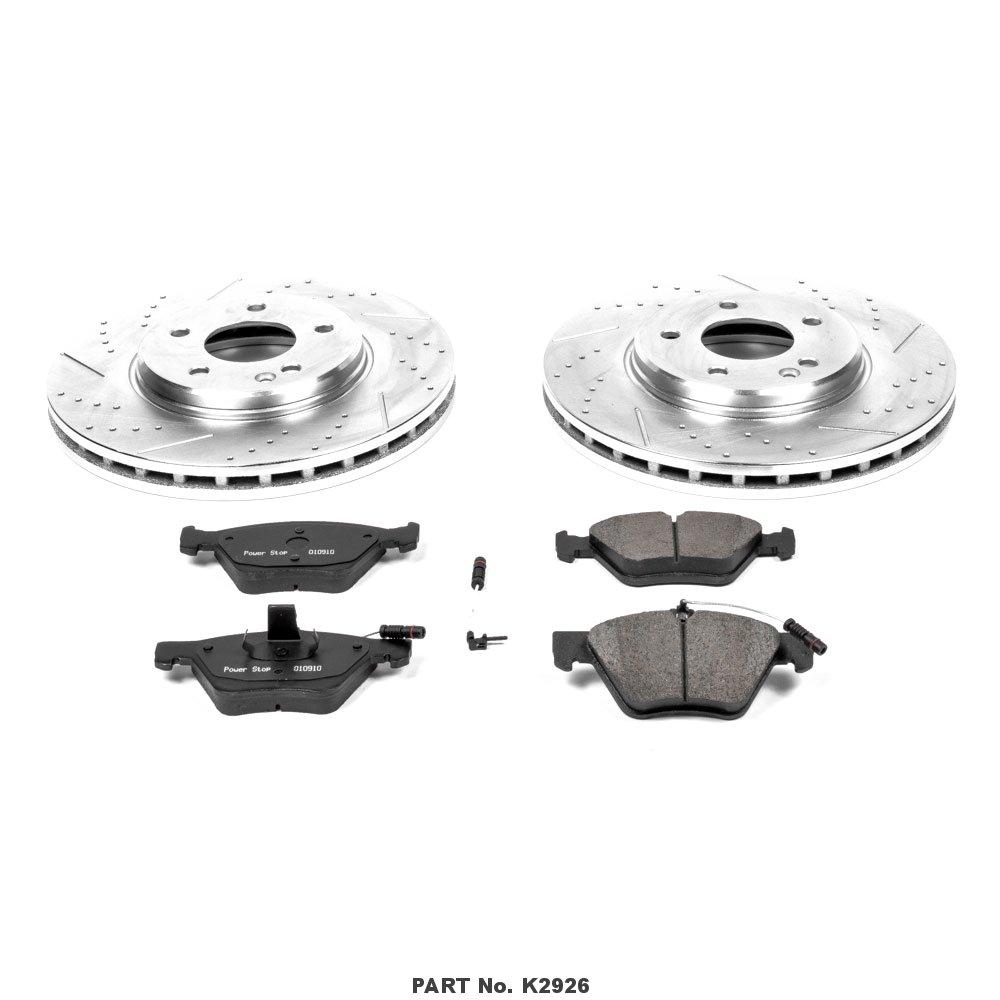Power Stop K2926 Front Brake Kit with Drilled//Slotted Brake Rotors and Z23 Evolution Ceramic Brake Pads