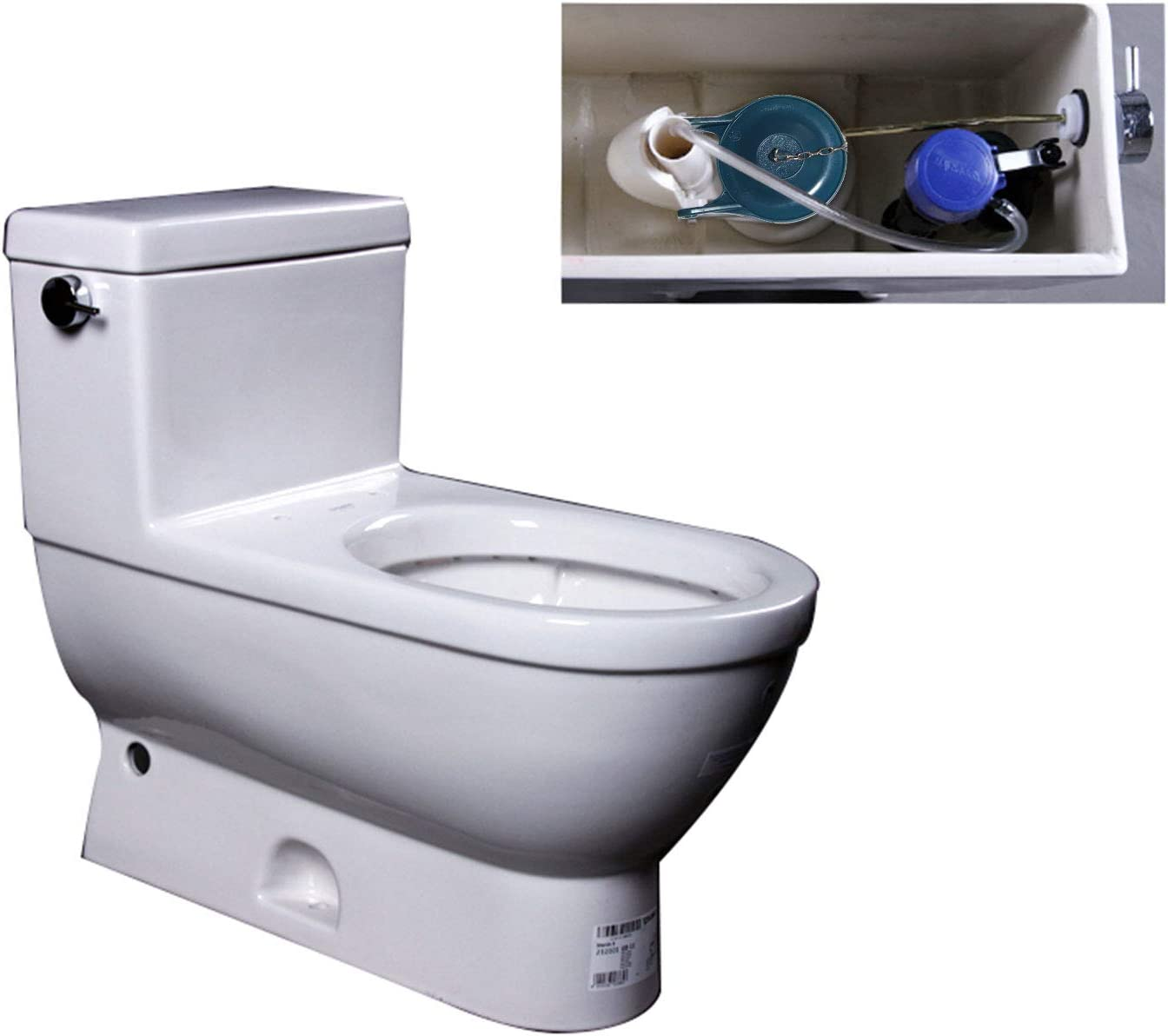 Water Saving 2 Pack Toilet Flapper Replacement Easy to Install 3 Inch Blue Flapper Replacement Compatible with Gerber 99-788 Long Lasting Rubber