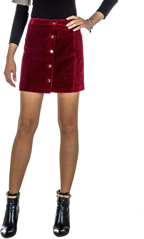 Des Petits - Falda de Terciopelo para Mujer, Color Burdeos Burdeos ...
