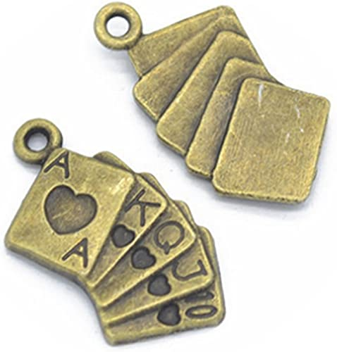 Alloy Poker Girl Jewelry Making Findings for Earrings Charms Pendants