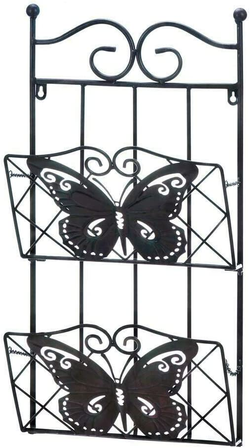 Amazon.com: Metal Butterfly 2-Tier Magazine Wall Rack: Home & Kitchen