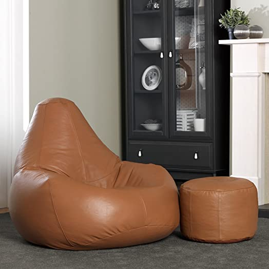 Luxury Real Leather Bean Bag