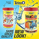 Tetra TetraColor Natural Color Enhancing Tropical Fish Flakes, 2.2 oz