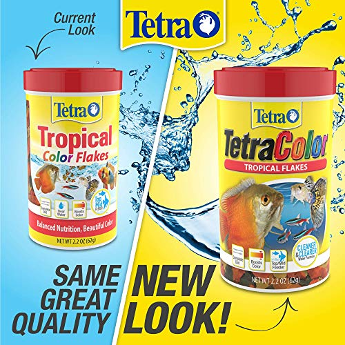 Tetra TetraColor PLUS Tropical Fish Flakes, 7.06-Ounce