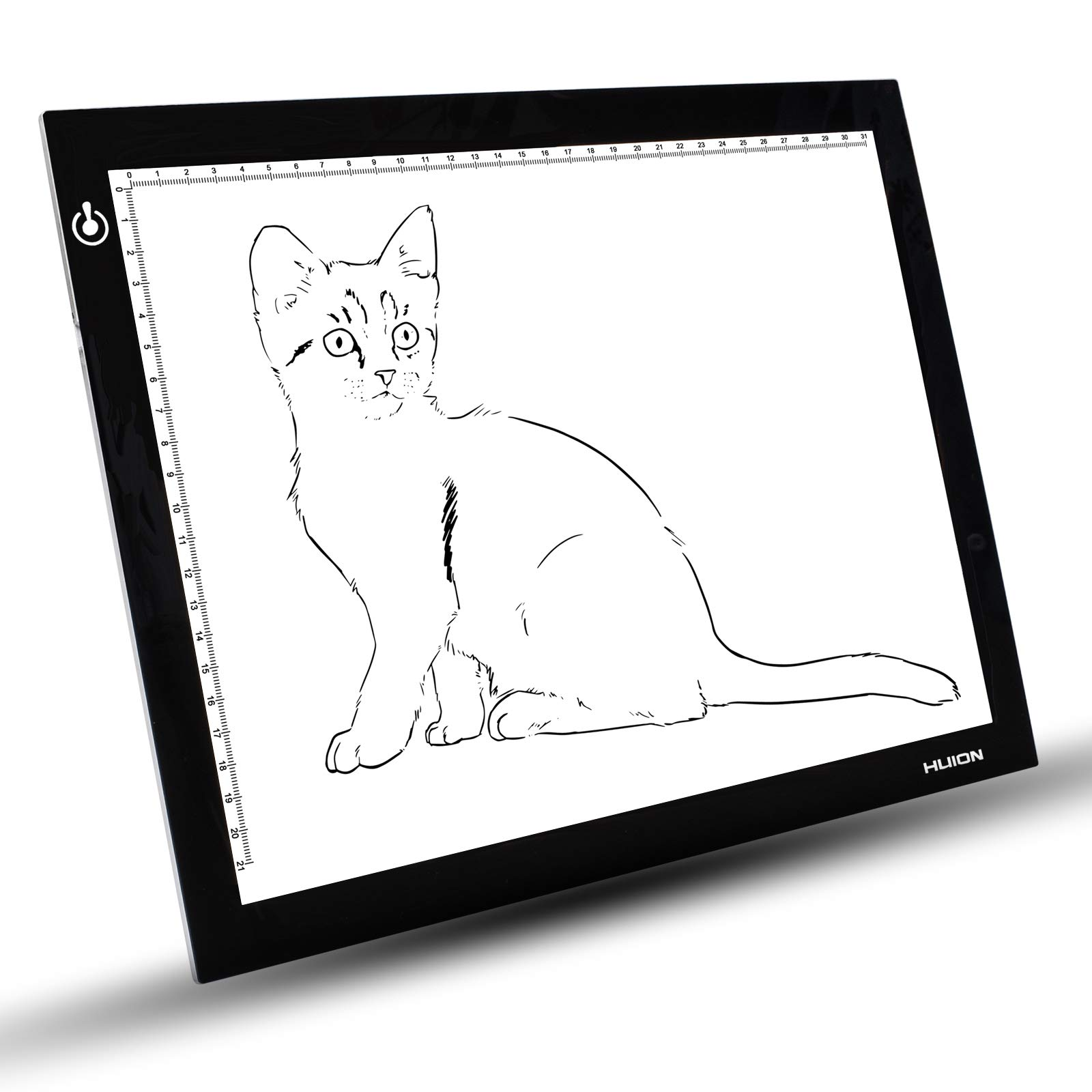 Huion 310*210mm LED Light Pad 5mm Ultra Thin Drawing Board Adjustable Brightness Light Box Tracing Copy Stencil Tattoo Panel with Multifunction Holder, Drawing Board Clip & Tracing Paper ( L4SH )
