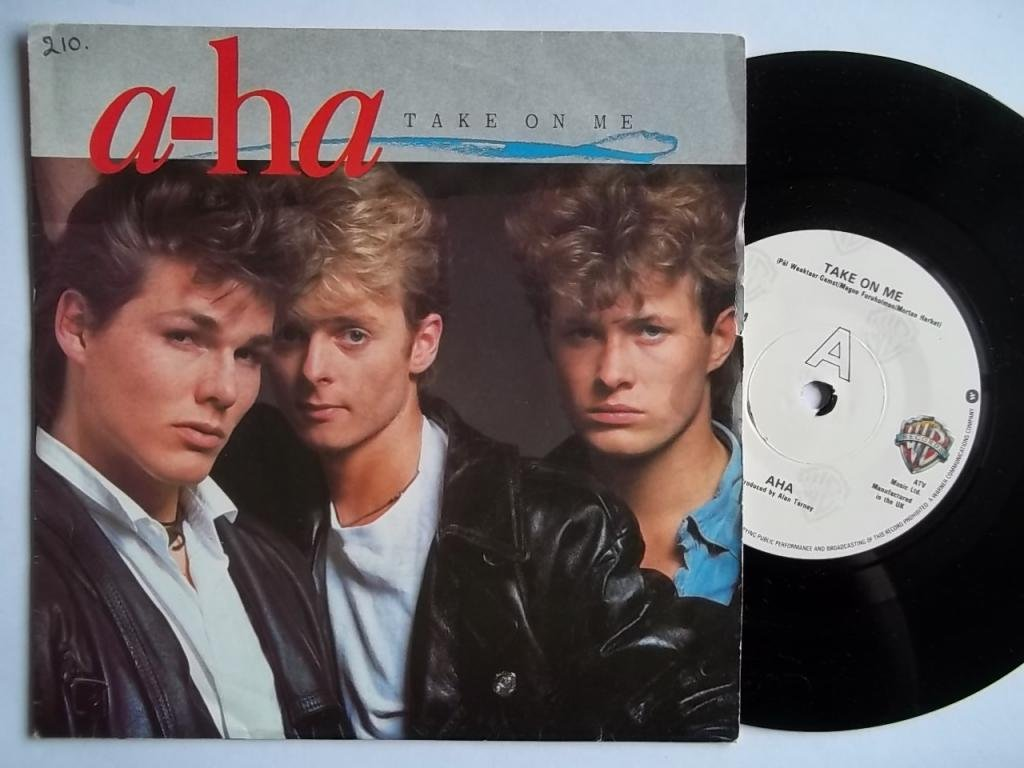 a-Ha Take On Me Silver Label UK 45 7