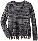 Product review for Derek Heart Big Girls' Long Sleeve Crew Neck Marled Tunic with Lurex,Novelty Stitch and Fringe Trim