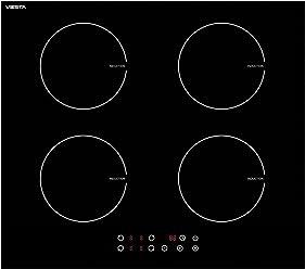 Viesta I4Z hochwertiges Induktionskochfeld mit 4 voneinander unabhängigen Kochzonen / 9 Kochstufen - Sensor-Touch Display für maximalen Bedienkomfort - Autark