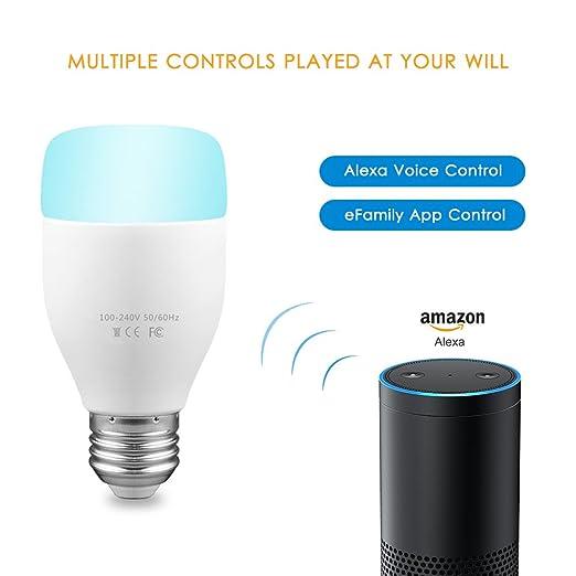 Smart Led Lampada Lampade Wifi Amazon Echo Controllo 6 W E27 Led