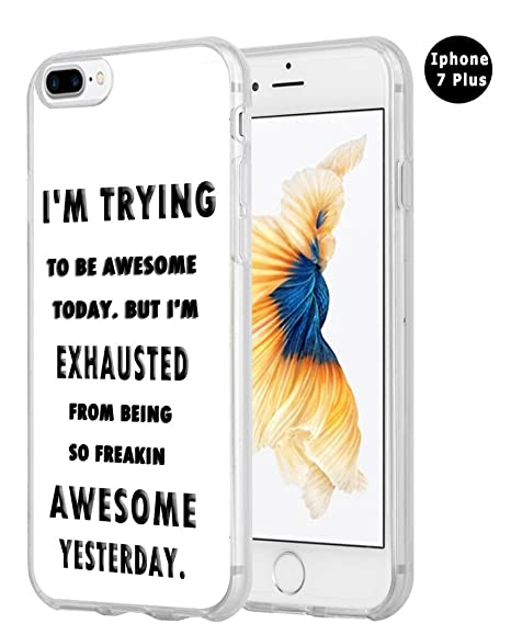 Iphone 8 Plus Case Quotes,Hungo Compatible Protective Cover Replacement For  Iphone 7 Plus/