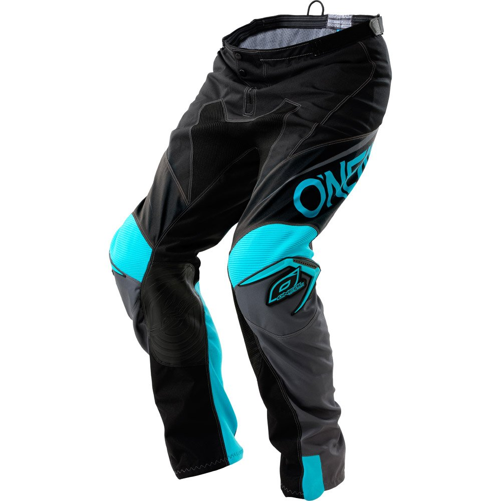 O'Neal Mens Mayhem Lite Blocker Pant (Black/Gray/Teal, Size 30)