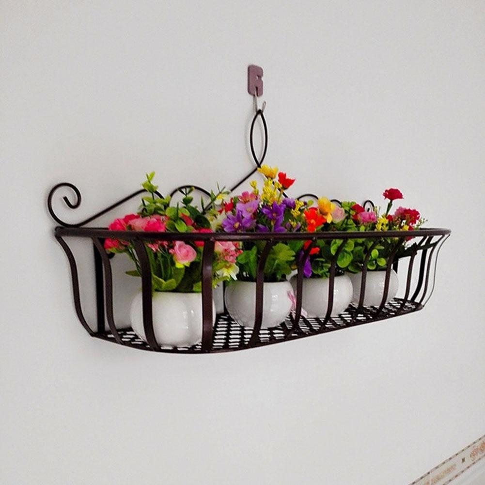 KSUNGB Flower Stand Wall Hanging Creative Railing Storage Living Room/ Bedroom/ kitchen/ Bathroom / Balcony / Hotel / Bar / Cafe Flower Pot Rack Bonsai Frame Shelf Hanging Iron , copper , 602029cm
