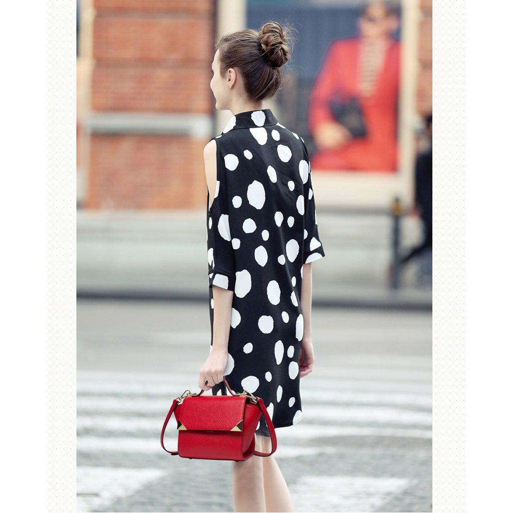 Damväskor läderväska damer diagonal axelväska mode handväska trendskor studentväska Röd