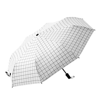 ZHDC® Tres paraguas, Umbrella Fold Large Men Women Vinilo Sombrilla sombrilla (Color :