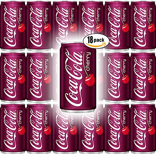 Coca-Cola Cherry, 7.5 Fl Oz Mini Can (Pack of 18, Total of 135 Fl Oz) (Cola Coca Cherry)