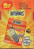 16 Pairs of HOTHANDS Toe Warmers with Adhesive (32 Total)