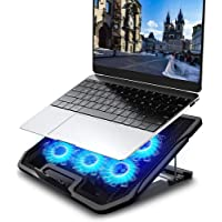 Ventilador Laptop, LETTURE Base de Refrigeración Ordenador Portátil Altura y Velocidad Ajustables Soporte para Laptop…