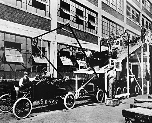 Ford Assembly Line 1913 Nthe Last Stage Of The Model T Assembly Line At The Ford Automobile Plant In Highland Park Michigan Photograph 1913 Poster Print by (18 x 24)