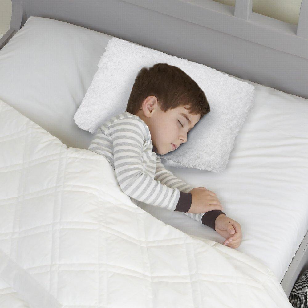 ソフトPlush Sherpa Memory Foam Mini Fun Travel Pillow for Kids & Toddlers – Perfectとして車の枕子供、on a飛行機またはas Kid Nap Pillow S ホワイト  ホワイト B07232PJLC