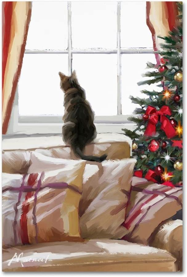 Amazon Com Cat On Chair By The Macneil Studio 12x19 Inch Canvas Wall Art Posters Prints