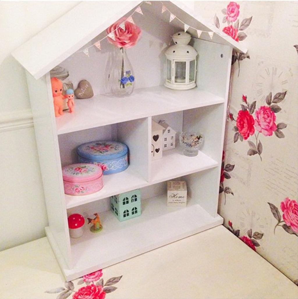 Kitzen Kinderzimmer Große Regale Bücherregal Massivholz Einfache Landung Großes Haus Modellierung Kombination Bücherregale Requisiten 77  120 cm Gute Qualität