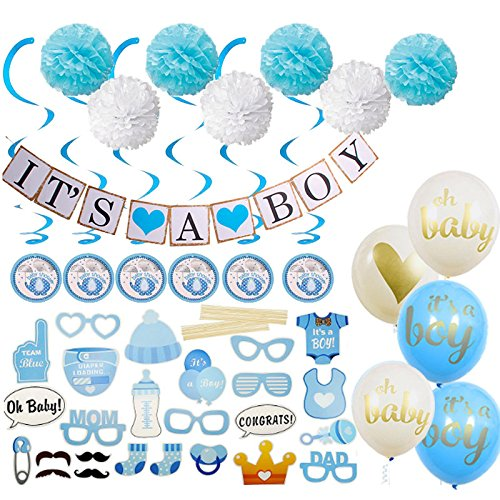 """Baby Shower """"It's a Boy!"""" – Deluxe Party Decorations All-In-One Kit by GreatestDeals"""
