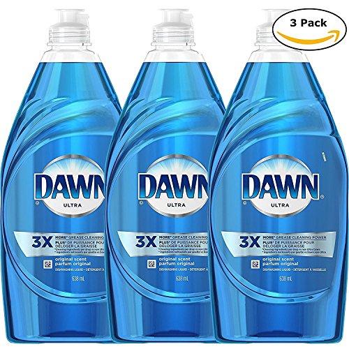Dawn Dishwashing Liquid, Original, 21.6 Ounce (Pack of 3) ()