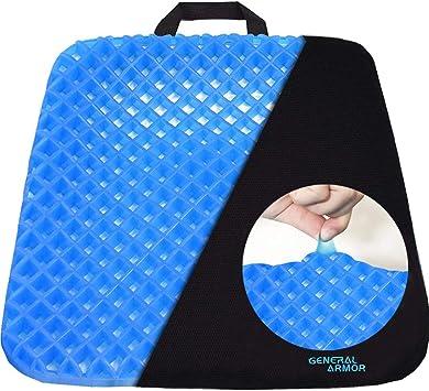 Amazon.com: Cojín de gel para asiento., Negro: Office Products