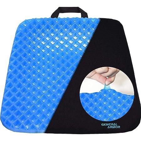 Cojín ortopédico de gel para sentarse - Postura Saludable Y Alivia El Dolor para alivio de coxis, espalda inferior y ciática - Cojín Ergonómico para ...