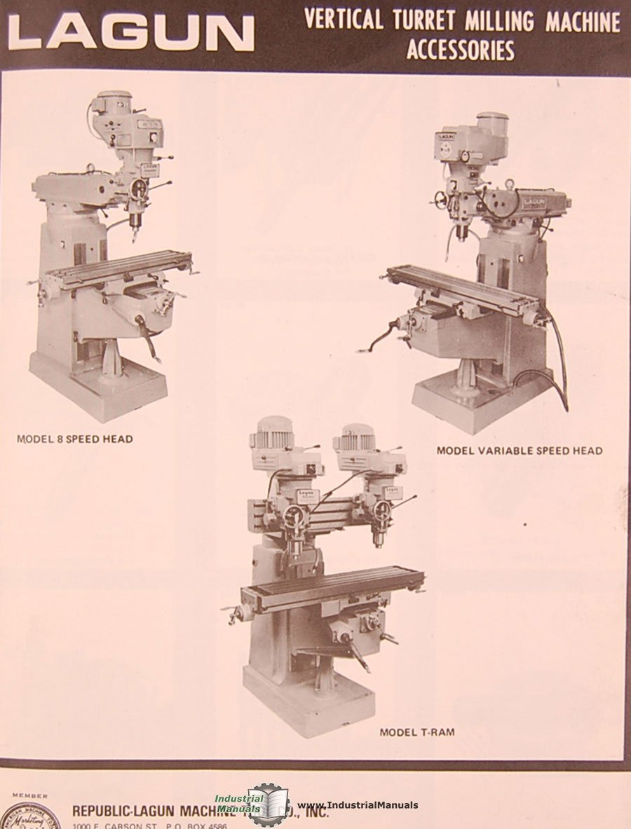 Lagun FTV-2, Milling Machine instructions and Parts Manual: Lagun:  Amazon.com: Books