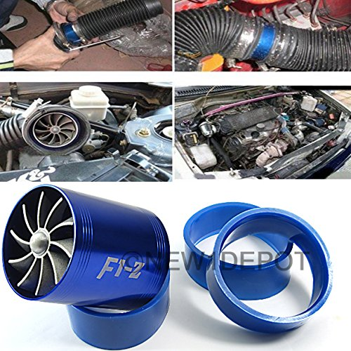 Amazon.com: Double Fans F1-Z Universal Air Intake Dual Turbonator Turbo Fuel Gas Saver Inflating Acceleration Pipe: Automotive