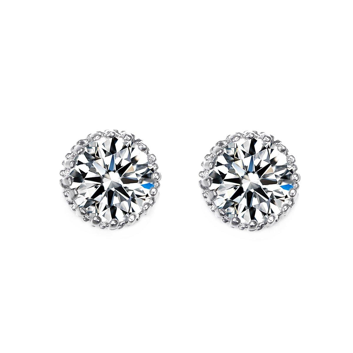 UMODE Jewelry Brilliant Round Cut Heart & Arrows 2 Carat Cubic Zirconia Cz Diamond Stud Earrings yiwu xilin trading company ltd. UE0013CA