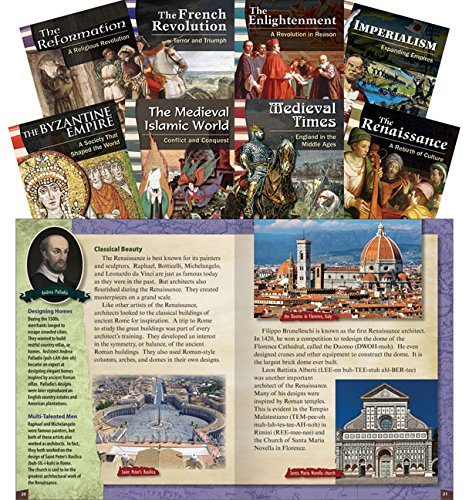 Teacher Created Materials - Classroom Library Collections: World History Eras and Events - 8 Book Set - Grades 6-8 - Guided Reading Level Q - V