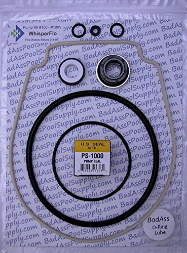 BadAss Pool Supply Compatible with Pentair WhisperFlo/IntelliFlo Complete O-Ring Rebuild Kit, OEM Almond Gasket