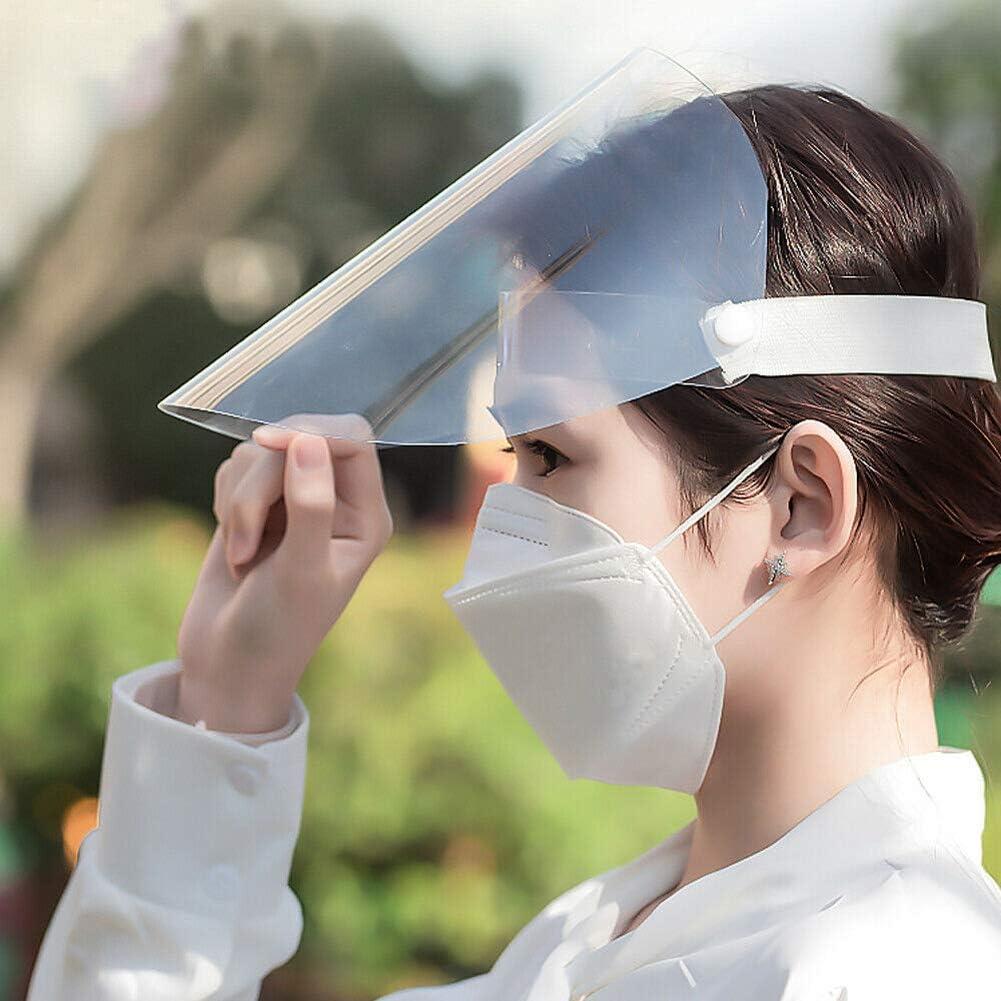 MJ style 2 Pcs /Écran Facial Transparent Protecteur /Écran Facial Clair Flip up Visi/ère Protection S/écurit/é Travail Garde pour Gouttelettes Poussi/ère Vapeur Dhuile
