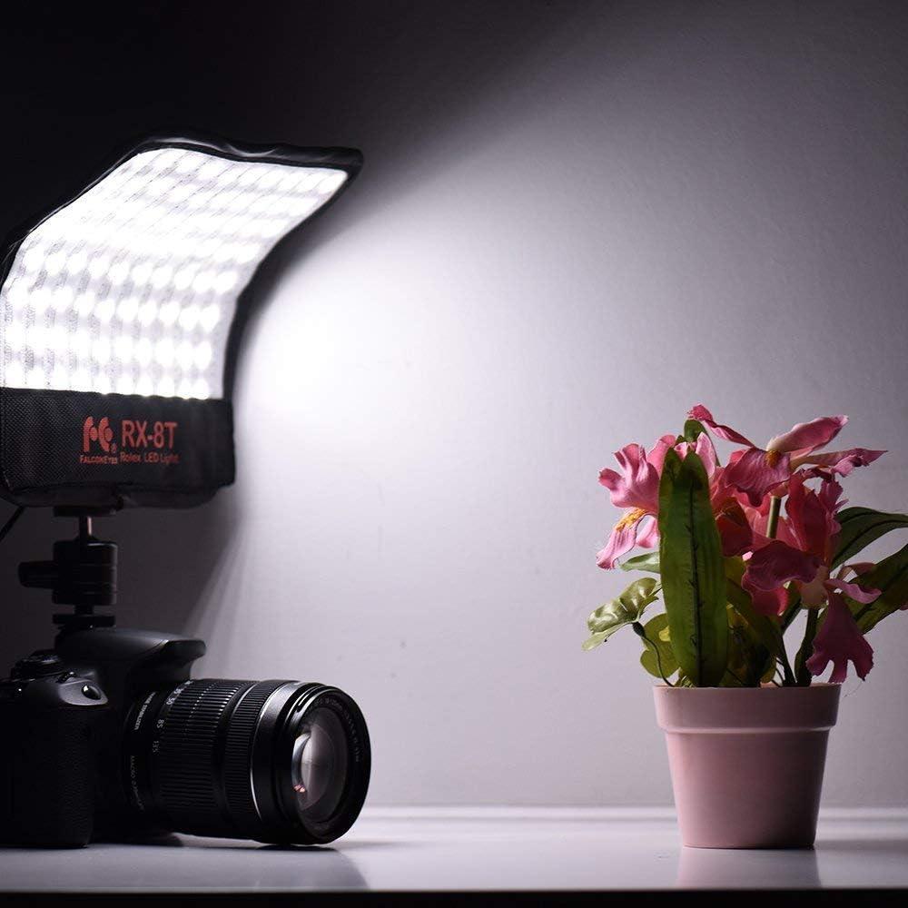 18W Flexible LED Light Panel CR95 3000-5600K Bi-Color Roll-Flex Macro Soft Photography Lighting on-Camera with Ball Head for Video Portrait Studio Shooting Falconeyes