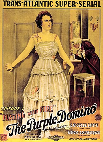 Posterazzi Lucille Love: The Girl of Mystery (Aka The Purple Domino) Grace Cunard Chapter 1 'Playing with Fire' 1914 Movie Masterprint Poster Print, (24 x 36) -
