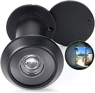 Spioncino in ottone massiccio, 200-degree spioncino con girante Heavy Duty privacy cover for 1-3/20,3 cm a 2-1/15,2 cm porte per casa ufficio hotel (oro)