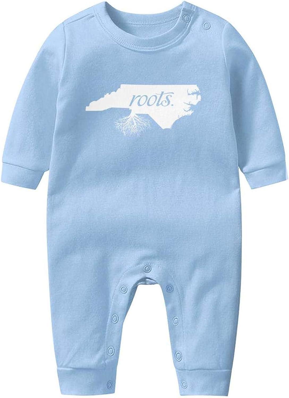 Charlotte North Carolina Skyline NC City Onesies Bodysuit Long Sleeve Natural Organic Cotton Rompers