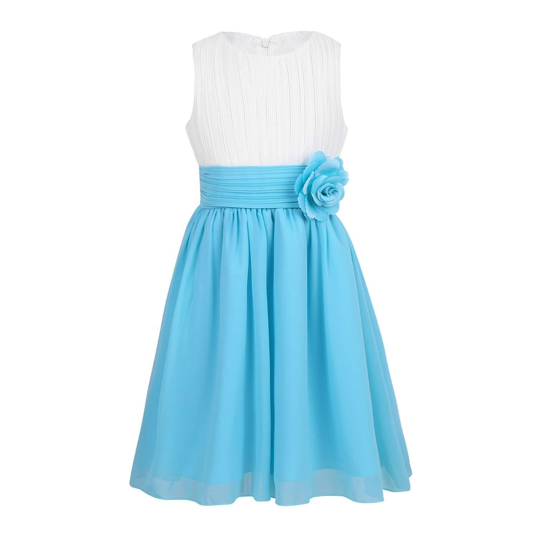 e26ce4a1b95 Sky Blue And White Flower Girl Dresses   Saddha