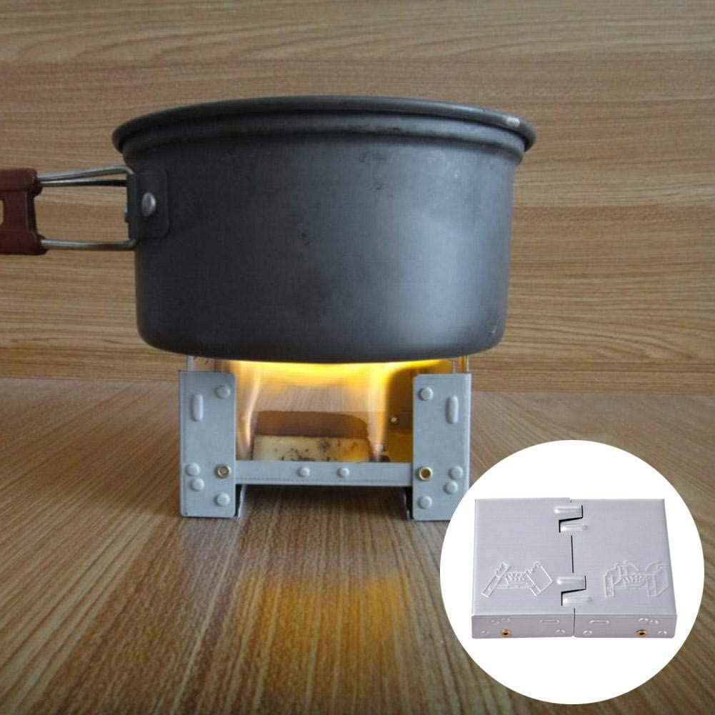 Portable Outdoor Cooking Camping Foldable Solid Alcohol Wax Stove Lightweight