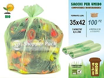 Bolsas para recoger umido-organico compostables de 6,5 l ...