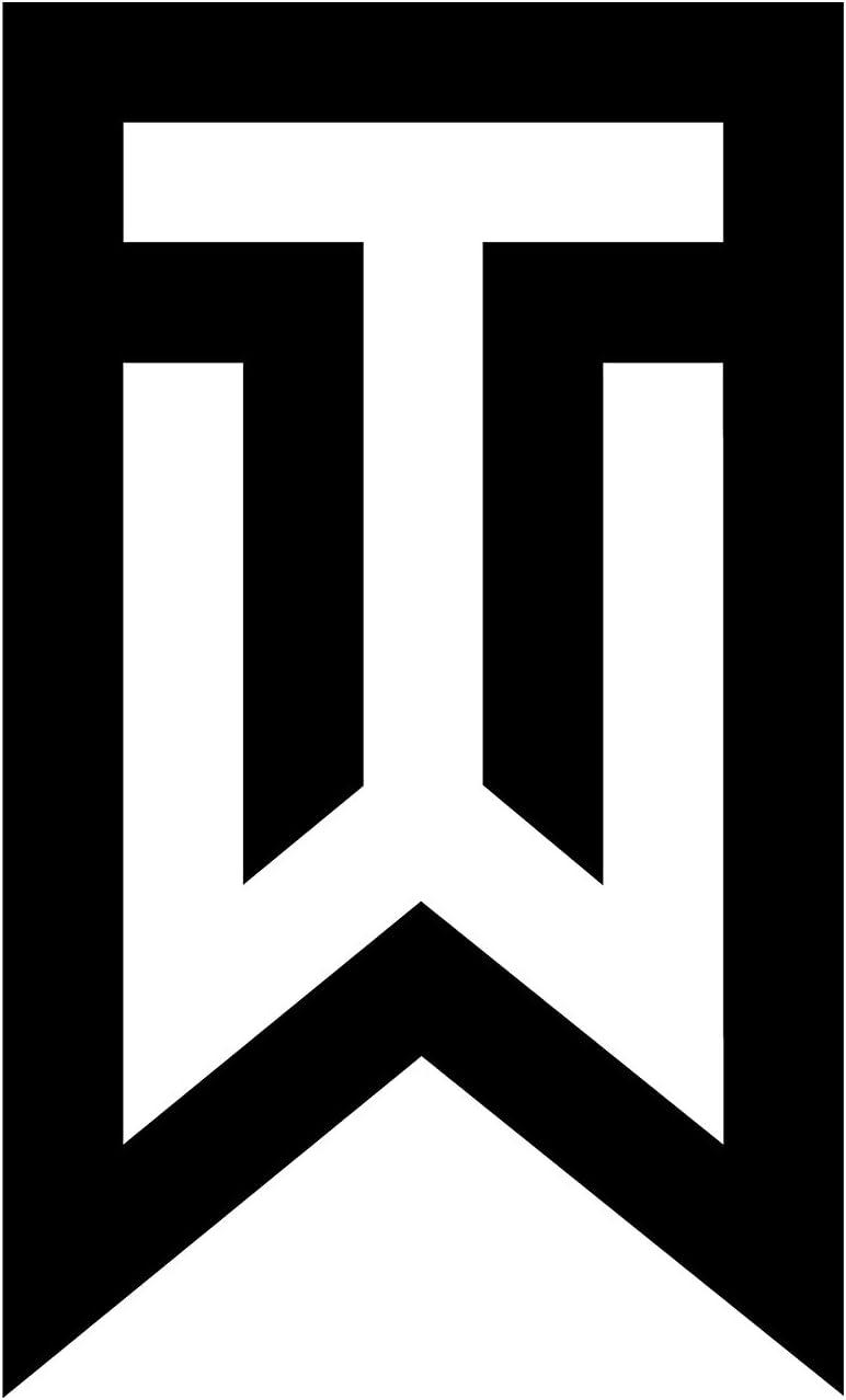 "Tiger Wood 6"" Tall Logo Decal Sticker for Cars Laptops Tablets Skateboard - Black"