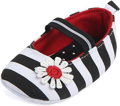 Fabal Baby Girl Boys Stripe Canvas Shoes Sneaker Anti-slip Shoes