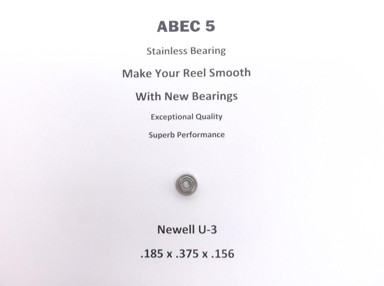 NewellリールパーツS 540 4.6 U - 3 ABEC 5ステンレス軸受.185 X 0.375 X .156 # 18 B079359CR9