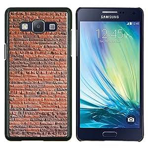 LECELL--Funda protectora / Cubierta / Piel For Samsung Galaxy A5 A5000 -- Pared de ladrillo rústico Naranja Marrón Arquitectura --